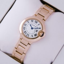 AAA Ballon Bleu de Cartier small swiss quartz watch W69002Z2 18kt pink gold