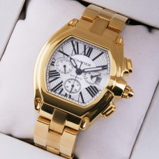 AAA Cartier Roadster Chronograph 18K yellow gold watch for men