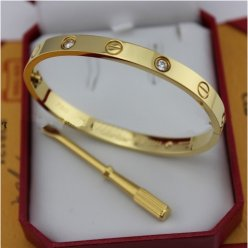 AAA Cartier Love yellow gold diamond bracelet with screw driver B6035916