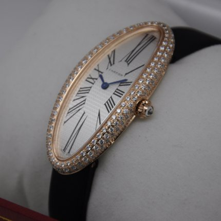 AAA Cartier Baignoire swiss diamond watch for women 18K pink gold