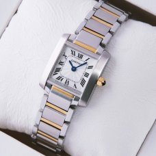 AAA Cartier Tank Francaise womens watch W51007Q4 yellow gold and steel