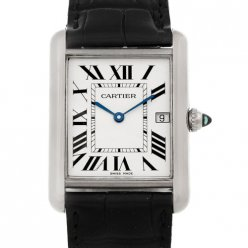 AAA Cartier Tank Louis 18K white gold mens watch replica W1540956