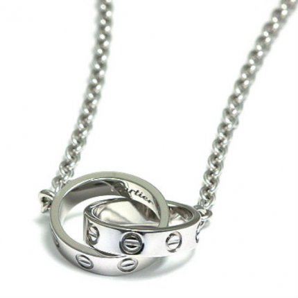 AAA Cartier Love white gold chain necklace B7212500