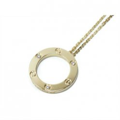 AAA Cartier Love yellow gold necklace pendant with three diamonds B7014500