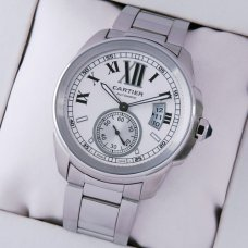 AAA Calibre de Cartier automatic mens watch W7100015 stainless steel