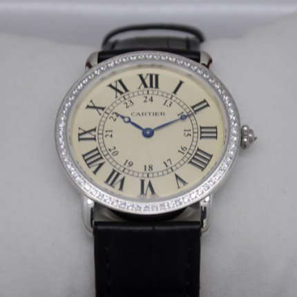 AAA Cartier Ronde Louis large diamond swiss watch for men and women steel