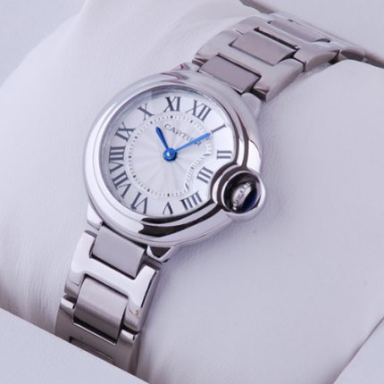 AAA Ballon Bleu de Cartier small quartz watch replica stainless steel