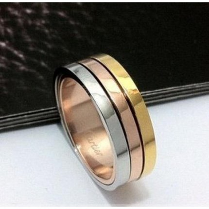 AAA Trinity de Cartier 3-gold wedding band replica B4052100