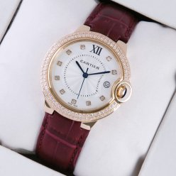 AAA Ballon Bleu de Cartier medium swiss watch diamond 18kt pink gold