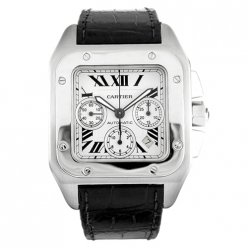 AAA Cartier Santos 100 Chronograph XL swiss automatic mens watch W20090X8