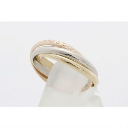 AAA Trinity de Cartier 3-gold replica ring for women B4088900