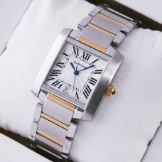 AAA Cartier Tank Francaise W51005Q4 two-tone 18kt yellow gold watch