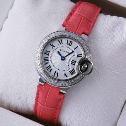 AAA Ballon Bleu de Cartier small quartz steel diamond watch
