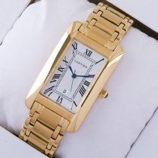 AAA Cartier Tank Americaine 18K yellow gold replica watch for men