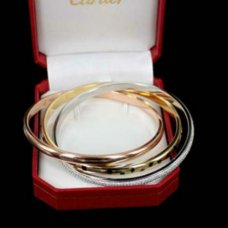AAA Trinity de Cartier 3-gold lacquer diamond bracelet N6037916 for women