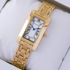 AAA Cartier Tank Americaine replica watch W26015K2 18K yellow gold