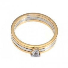 AAA Trinity de Cartier 3-Gold SolitaireDiamant ring Replik N4204200