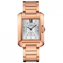 AAA Cartier Tank Anglaise Diamond montres pour les hommes WJTA0005 Or rose 18 carats