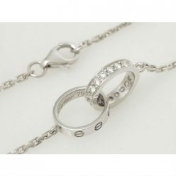 AAA Cartier Love or blanc collier de diamants B7013700