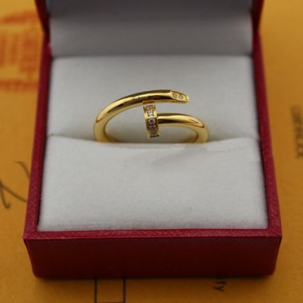 AAA Imitation Cartier Juste un Clou bague en diamant en or jaune