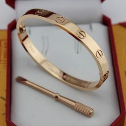 AAA Cartier love or rose bracelet avec B6035616 tournevis