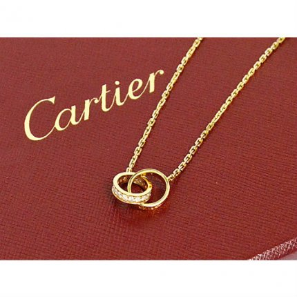 AAA Cartier Love or jaune collier de diamants B7013800