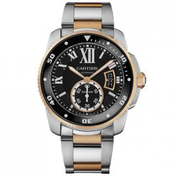 AAA Calibre de Cartier Diver montre W7100054 bicolore or rose et acier