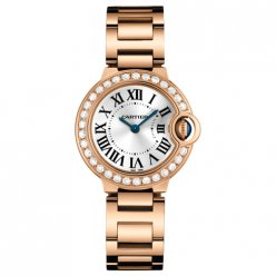 AAA Ballon Bleu de Cartier petit quartz suisse Or rose montres WE9002Z3