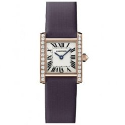 AAA Cartier Tank Francaise dames de diamant montres WE104531 or rose