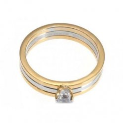 AAA Trinity de Cartier 3-or bague en diamant Solitaire réplique N4204200