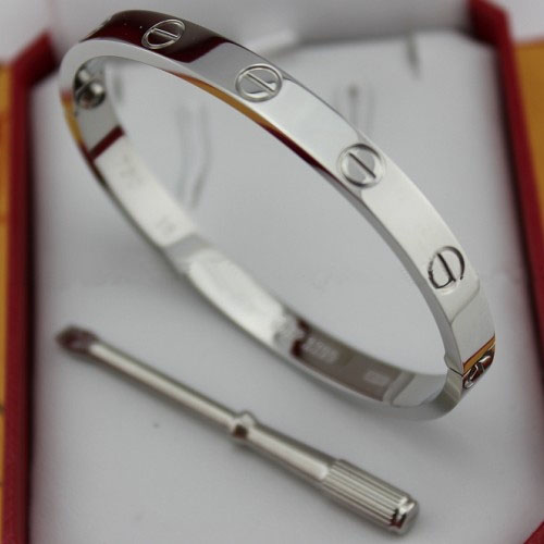 AAA Cartier Love white gold bracelet with screw driver B6035416 - Click Image to Close