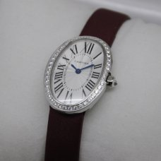AAA Cartier Baignoire swiss womens watches steel single row of diamonds