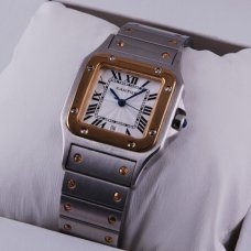 AAA Cartier Santos Galbee womens watch two-tone 18K yellow gold and steel