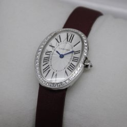 AAA Cartier Baignoire swiss womens watch steel single row of diamonds