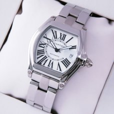 AAA Cartier Roadster medium stainless steel silver dial automatic watch for men