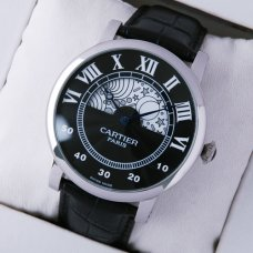 AAA Rotonde de Cartier day-night collection privee stainless steel watch for men