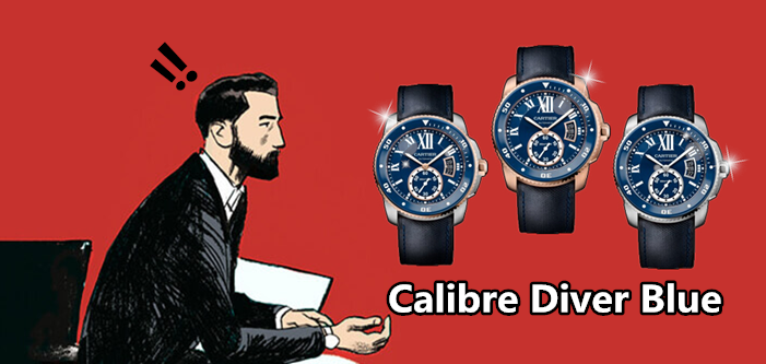 replica calibre diver blue